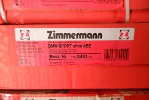 #ZIMMERMANNjima- man BMW SPORT ohne ABE brake rotor 2P 150.3401.50