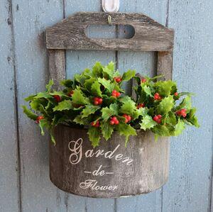 プランター 植木鉢 田園レトロ アイデア壁掛け プランター 壁面 装飾 ガーデン 雑貨 グレー