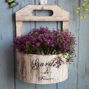 プランター 植木鉢 田園レトロ アイデア壁掛け プランター 壁面 装飾 ガーデン 雑貨 ホワイト