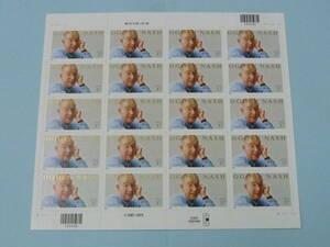 21MI P 米国切手 2002年 SC#3659 O.ナッシュ(詩人) 37c 20面シート(シール式) 未使用NH・VF