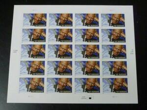 21MI P 米国切手 2005年 SC#3905 E.Y.ハーバーグ(詩人) 37c 20面シート(シール式) 未使用NH・VF