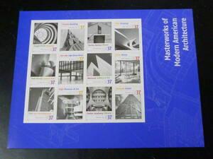 21MI P 米国切手 2005年 SC#3937 アメリカの現代建築 37c 12面シート(シール式) 未使用NH・VF