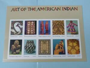21MI P 米国切手 2004年 SC#3873 アメリカ先住民族の芸術 37c 10面シート(シール式) 未使用NH・VF