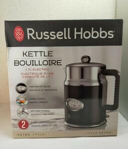 Russell Hobbs Retro Style1.7L 電気ケトル  黒