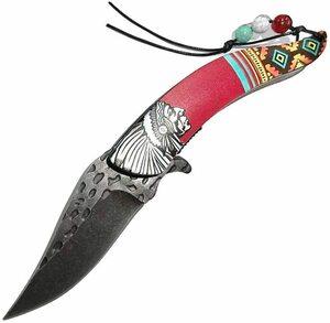 【新品 送料無料】Dcenrun フォールディングナイフ アメリカインディアン 折りたたみナイフ アウトドアナイフ 登山 地震 防災 キャンプ