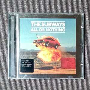 THE SUBWAYS - ALL OR NOTHING 輸入盤 ザ・サブウェイズ オール・オア・ナッシング 送料無料 即決 迅速発送