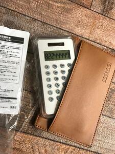 ニトリ 非売品 電卓 電卓ケース カードケース 電卓のみ使用済み 100店舗達成記念
