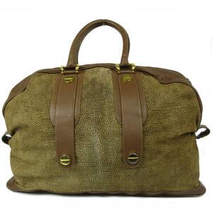 ボルボネーゼ Borbonese レッドウォール レザー ボストン ハンド バッグ 旅行鞄 イタリア製 ブラウン 20259bkac