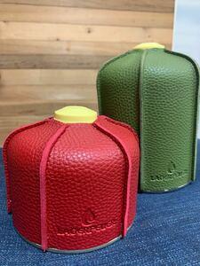 LAGERFEUER OD缶カバー2個セット(230g・450g用)グリーン&レッド
