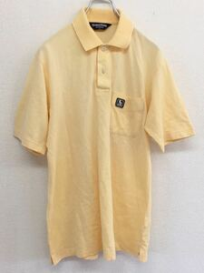 Munsingwear マンシングウェア 半袖ゴルフシャツ ポロシャツ メンズ Mサイズ イエロー ペンギン デサント 日本製