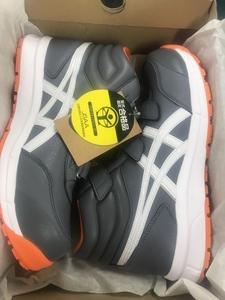 005▽未使用品・即決価格▽アシックス ASICS 安全靴 27.5cm ウィンジョブ CP302 METROPOLIS/WHITE