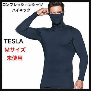 【未使用】TESLA ハイネック コンプレッションシャツ★Mサイズ UVカット・吸汗速乾 コンプレッションウェア ランニング 送料無料★
