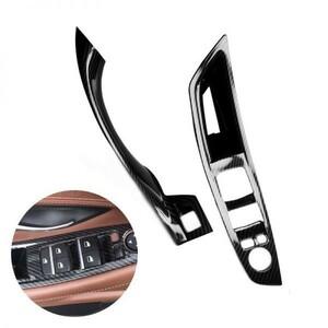 【値下げ交渉OK】Bmw 5 シリーズ F10 F18 炭素繊維テクスチャ車ドアプルハンドル保護カバー
