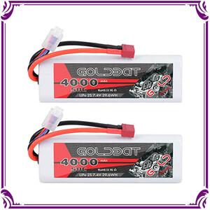 *送料無料*GOLDBAT 4000mAh 2S 50C 7.4V リポバッテリー 2個入り ラジコンリポバッテリー Lipo バッテリー