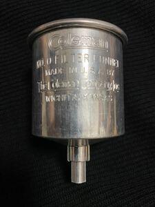 貴重 廃盤 Coleman funnel ビンテージ品 アメリカ製金属仕様長期保管未使用品 中のフィルター付き 希少貴重品