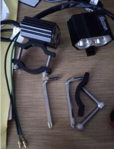 2個セット 30W 5000LM▲オートバイヘッドライト スポットライト2x XM-L T6 LEDフォグ