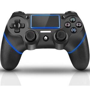 コントローラー ワイヤレス コントローラー P4専用 無線 Bluetooth接続 二重振動機能 滑り防止 ゲームパット