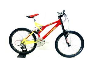 徳山)[店頭引取限定] インテンス INTENSE UZZI-SL 1999年頃モデル MTB マウンテンバイク サイズ不明 9速 レッド×イエロー