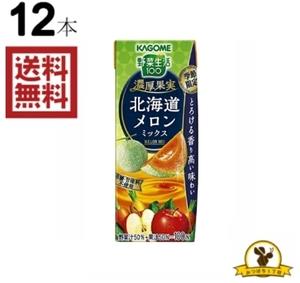 カゴメ 野菜生活 濃厚果実 北海道メロンミックス 195mlx12本