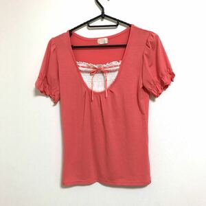 Tシャツ カットソー トップス パフスリーブ 半袖 美品