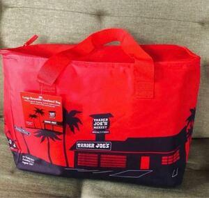新品 トレーダージョーズ 保冷バッグ レッド 大容量 赤 アウトドア 保冷バッグ TRADER JOE''S クーラーバッグ