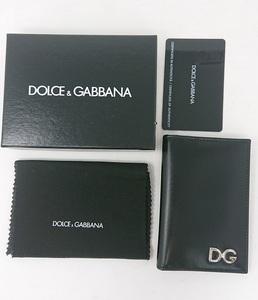 新品 ドルチェ&ガッバーナ 名刺入れ パスケース 黒 DOLCE&GABBANA ブラック 二つ折り名刺入れ 定期入れ D&G ドルガバ