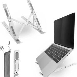 ノートパソコン スタンド 折りたたみ式 6段階高さ・角度調整可能