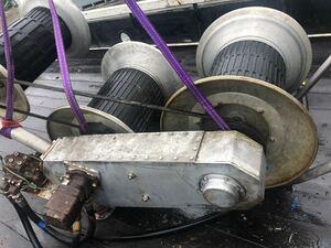 ★油圧3連ネットホーラ中古でも良い漁業機★