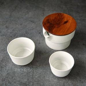 景徳鎮 在宅勤務 携帯用茶器(宝瓶1点+茶碗2点+茶巾+収納バッグ )3点セット(白) ランダム発送