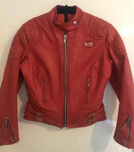 送料無料 Vintage lewis leathers jacket Red Phantom ルイスレザー ファントム ライダース レザージャケット モーターサイクル レッド