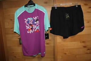 未使用NIKE ナイキxキーニュ コラボ ランニング半袖Tシャツ&ショートパンツ上下セット
