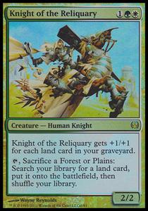 え金Foil 聖遺の騎士 1枚(3枚在庫x 英 良品 KvD)/Knight of the Reliquary(MTG /ナイツvsドラゴンズ/Knights vs. Dragons/DDG/)