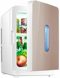 ゴールド ミニ冷蔵庫 小型 保温保冷両用 静音設計 清掃しやすい 大容量 持ち運び便利 温冷庫 コンパクト 家庭・車載両用 一人