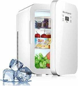 ホワイト HANSHUMY 12L冷蔵庫 -9℃~65℃ 冷蔵&加熱 ミニ 冷蔵庫 12V車用 110V家庭用 小型 ポータブル
