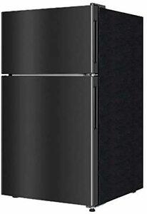 3)87L ガンメタリック maxzen 冷蔵庫 87L 一人暮らし 2ドア マクスゼン コンパクト 小型 おしゃれ ガンメタリ