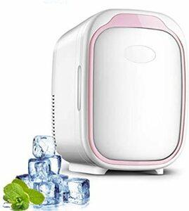 ピンク HANSHUMY 6L化粧品冷蔵庫 3℃~65℃ 冷温庫 ミニ 小型 ポータブル 家庭&車載両用 110V 保温