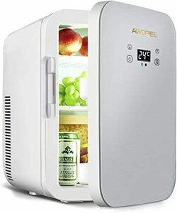 Awopee 冷温庫 ミニ冷蔵庫 家庭 車載両用 2電源式 12L 大容量 ポータブル冷蔵庫 小型でポータブル 便利な携帯式 冷
