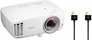 【HDMIケーブルセット】BenQ DLPプロジェクター TH671ST 短焦点モデル (フルHD/3000lm/2.7kg/1