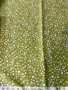 ロラライハリス Balloon Dots グリーン 緑 USAコットン ハンドメイド