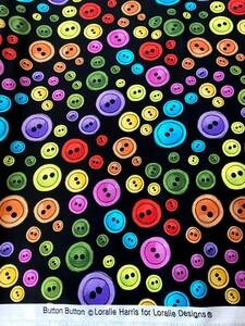 ロラライハリス Button Button USAコットン カラフル ボタン