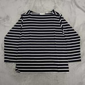 【新品】cantate Horizontal Stripe Shirt Size:48(サイズL相当) NAVY×WHITE SAINT JAMES ANATOMICA AUBERGE COMOLI HEUGN HERILL OUTIL