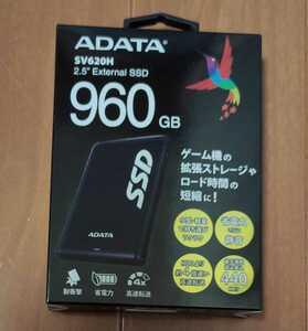 新品未開封品 960GB ポータブルSSD ADATA SV620H