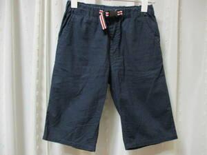 THE SHOP TK 紺色 パンツ 半ズボン 150 ウエストゴム 綿100%