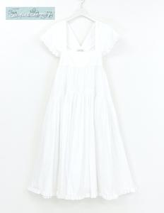 Sランク CECILIE BAHNSEN セシリーバンセン ドレス ワンピース UK6 ホワイト コットン MATCHESFASHION購入品