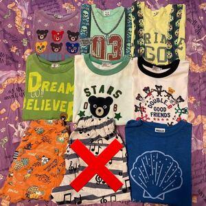 130 140 Tシャツ ハーフパンツ まとめ売り ダブルB ブリーズ BREEZE エフオーキッズ F.O.kids
