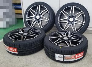 国産スタッドレス ベンツ Aクラス Bクラス W246 Cクラス W204 ブリヂストン VR-X2 225/40R18 18インチ 新品タイヤホイールセット 1台分