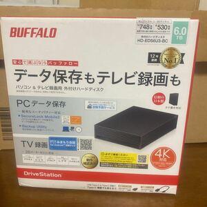 BUFFALO HD-EDS6U3-BC外付けハードディスク 6TB