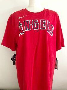 ナイキ マジェスティック 野球ウェア 半袖Tシャツ N199-62Q-ANG-M3X M NIKE MLB スタンダードフィット 未使用 大谷翔平 エンジェルス