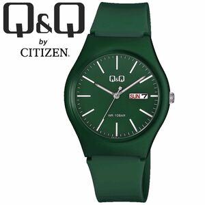 CITIZEN Q&Q シチズン 腕時計 A212 アナログ 曜日 グリーン チープシチズン メンズ レディース キッズ ユニセックス 仕事 ビジネス