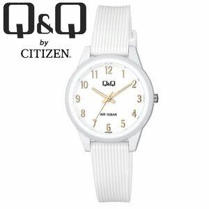 CITIZEN Q&Q シチズン 腕時計 VS13J008Y ホワイト アラビア アナログ チープシチズン レディース キッズ 女性 子供 防水 国産ムーブメント